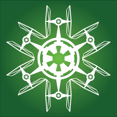 TIE Fighter - Star Wars Snowflake